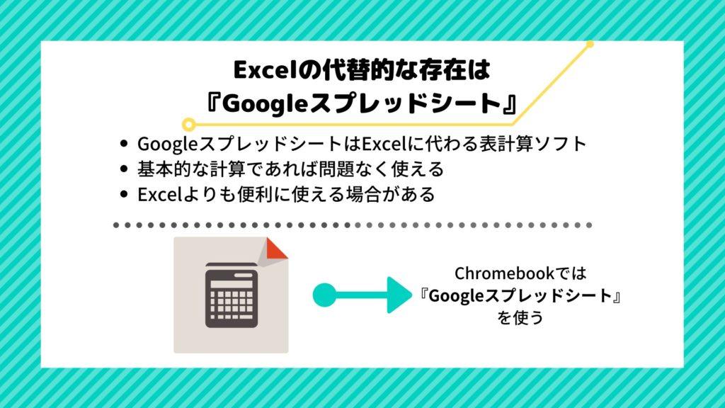 エクセル chromebook